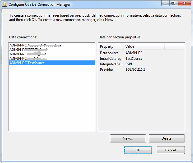 SSIS | ole db connection manager